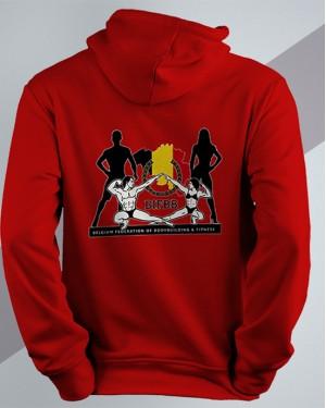 BIFBB Stand United Hoodie red