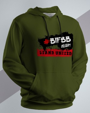BIFBB Stand United Hoodie army green